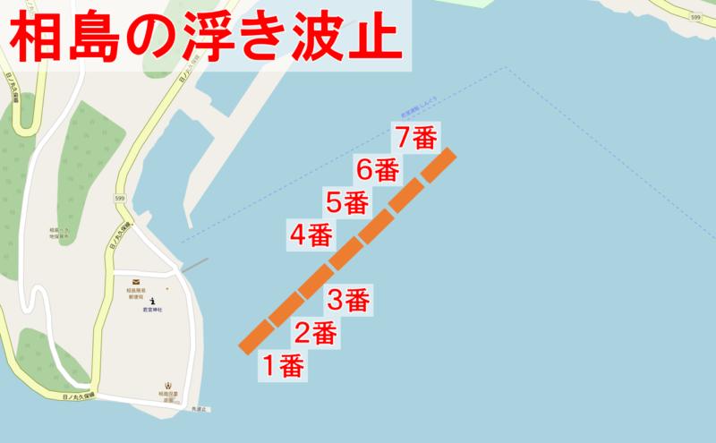 相島の浮き波止