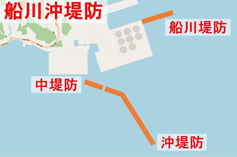 船川沖堤防