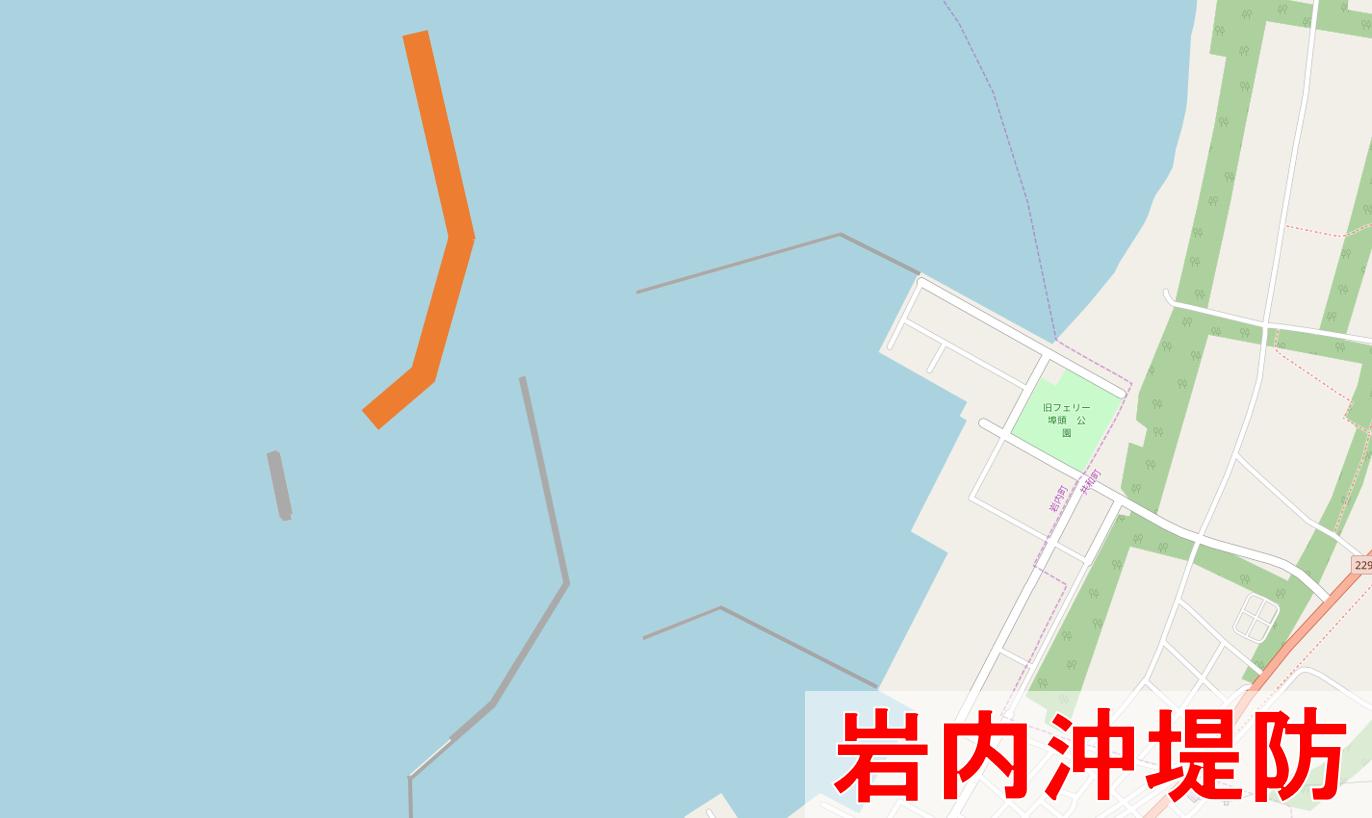 岩内沖堤防